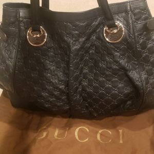Gucci GG leather Full Moon Large Tote Bag